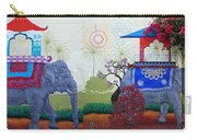 Amazing Wall Art Painting Or Elephants Carry-all Pouch