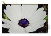 Amazing White African Daisy Carry-all Pouch