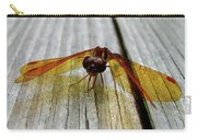 Amber Dragonfly Carry-all Pouch
