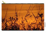 Amber Sundown Meadow Grass Silhouette  Carry-all Pouch