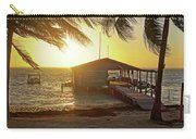 Ambergris Cayr Sunrise Palm Trees San Pedro Belize Carry-all Pouch