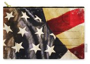 America Flag Pattern Postcard Carry-all Pouch