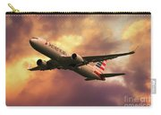 American Airlines 767 N345an Carry-all Pouch