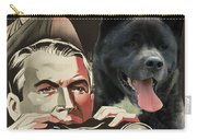 American Akita Art Canvas Print - Rear Window Movie Poster Carry-all Pouch