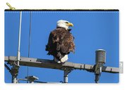 American Bald Eagle On Communication Tower Carry-all Pouch