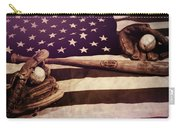 American Baseball Grunge Carry-all Pouch
