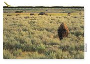 American Bison Carry-all Pouch by Sebastian Musial