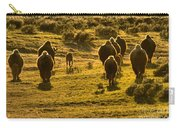 American Bison Sunset March Carry-all Pouch