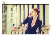 American Businesswoman Working In New York Carry-all Pouch