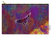 American Crow Flying Ave Fauna  Carry-all Pouch