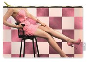 American Culture Pin Up Girl Inside 60s Retro Diner Carry-all Pouch