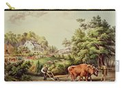 American Farm Scenes Carry-all Pouch by Currier and Ives