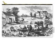 American Farmyard, C1870 Carry-all Pouch by Granger