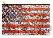 American Flag Abstract 2 With Trees  Carry-all Pouch