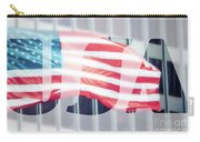 American Flag In Front Of Business Building  Carry-all Pouch