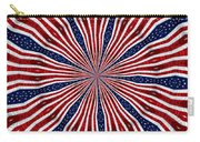 American Flag Kaleidoscope Abstract 6 Carry-all Pouch