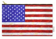 American Flag Carry-all Pouch by Linda Mears