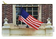 American Flag On An Old Building Carry-all Pouch