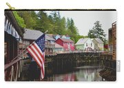 American Flag On Creek Street Ketchikan Alaska Carry-all Pouch