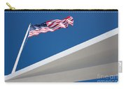 American Flag Over Pearl Harbor Carry-all Pouch