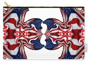 American Flag Polar Coordinate Abstract 1 Carry-all Pouch