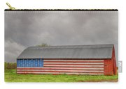 American Flag Proudly Displayed Carry-all Pouch