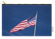 American Flag Waving In The Breeze Carry-all Pouch