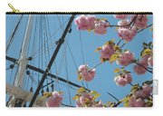 American Flag With Cherry Blossoms Carry-all Pouch