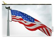 American Flag With Eagle Carry-all Pouch