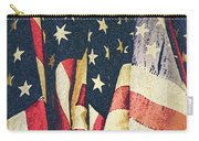American Flags Painted Square Format Carry-all Pouch