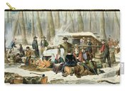 American Forest Scene Maple Sugaring Carry-all Pouch