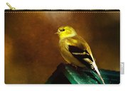 American Gold Finch In Texture Carry-all Pouch