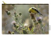 American Goldfinch Having Lunch On Bakery Hill Carry-all Pouch
