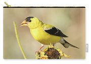 American Goldfinch On Sunflower Carry-all Pouch