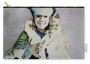 American Indian Girl Carry-all Pouch