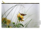 American Lady Butterfly Balancing By The Sea  Carry-all Pouch