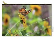 American Lady Butterfly By The Beach Carry-all Pouch