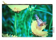 American Lady On Coreopsis Carry-all Pouch