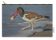 American Oystercatcher Grabs Breakfast Carry-all Pouch by Susan Candelario