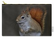 American Red Squirrel Portrait Carry-all Pouch