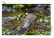 American Robin In Garden Springs Creek Carry-all Pouch
