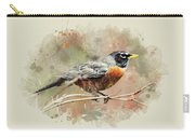 American Robin - Watercolor Art Carry-all Pouch