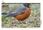 American Robin With Muddy Beak Carry-all Pouch