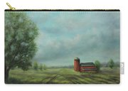 American Scene Red Barn  Carry-all Pouch by Katalin Luczay