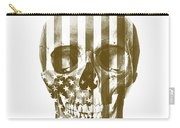 American Skull Beige Carry-all Pouch