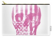 American Skull Pink Carry-all Pouch
