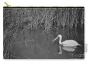 American White Pelican Among Reeds         Minnesota Zoo          Autumn Carry-all Pouch