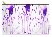 Amethyst Dancing Flowers Carry-all Pouch