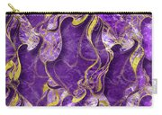 Amethyst  With Gold Marbled Texture Carry-all Pouch