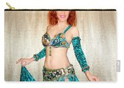 Ameynra Belly Dance Fashion. Emerald 09 Carry-all Pouch